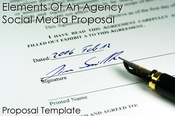 Important Elements Of An Agency Social Media Proposal Part The - Social media proposal template